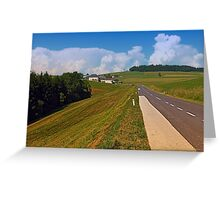 Country road and cloudy blue sky   landscape photography Greeting Card