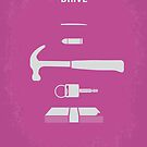 No258 My DRIVE minimal movie poster by Chungkong