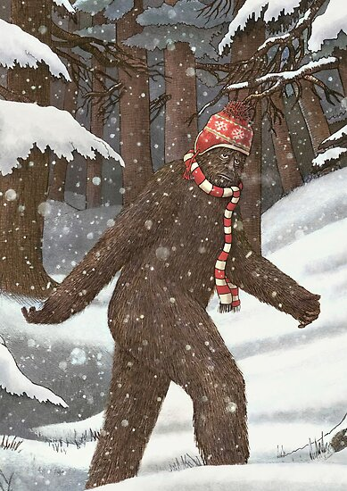 Bigfoot Bundles Up by Terry  Fan