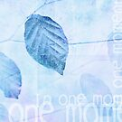 Leaves in Pastel Blue Contemporary Art Print by Natalie Kinnear