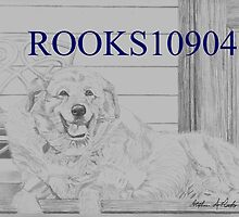 Golden Labrador Retriever DOG ART PRINT by rooks10904