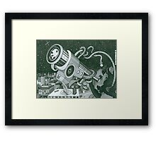 Microscope or Telescope Framed Print