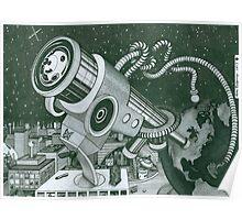 Microscope or Telescope Poster