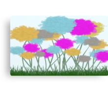 Splat Painted Flower Scene Canvas Print