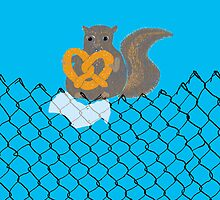 New York Squirrel for phone by Wendy Wahman
