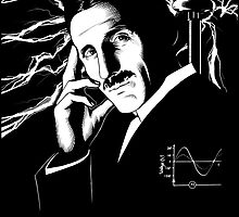 Nikola Tesla by AnglesAndAcid