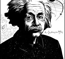 Albert Einstein by AnglesAndAcid
