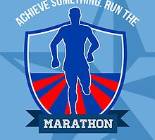 Run Marathon Achieve Something Poster by patrimonio