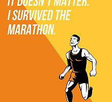 I Survived Marathon Runner Retro Poster by patrimonio