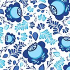 Blue flowers pattern by alithe