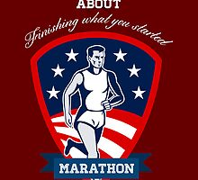 Marathon Runner Finish What You Start Poster by patrimonio