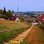 Stairway to the village center | landscape photography by Patrick Jobst