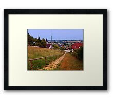 Stairway to the village center | landscape photography Framed Print