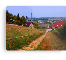 Stairway to the village center | landscape photography Metal Print