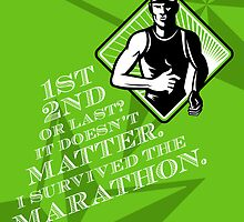 Male Marathon Runner Retro Poster by patrimonio