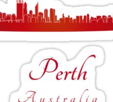 Perth skyline in red Sticker