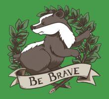Be Brave Badger Crest Kids Clothes