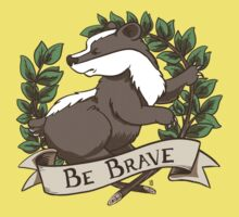 Be Brave Badger Crest Kids Clothes