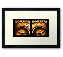 Buddha Eyes Diptych  Framed Print