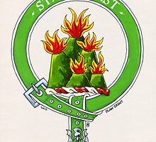 Clan Grant Scottish Crest by Cleave