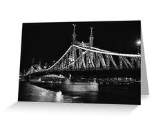 Liberty Bridge, Budapest Greeting Card