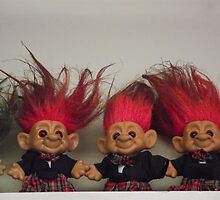 Trolls on a Shelf by Naomi Slater