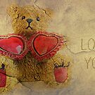 I Love You - greeting card by Scott Mitchell