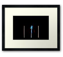 Neon Girl Framed Print