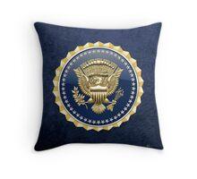 Presidential Service Badge - PSB 3D on Blue Velvet Throw Pillow