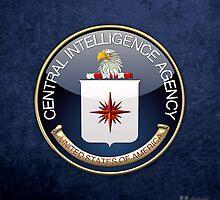 Central Intelligence Agency - CIA Emblem 3D on Blue Velvet by Captain7