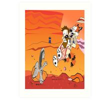 Calvin and Hobbes: Doctor Who From Another Planet! Art Print
