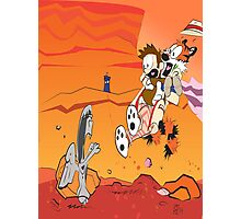 Calvin and Hobbes: Doctor Who From Another Planet! Photographic Print