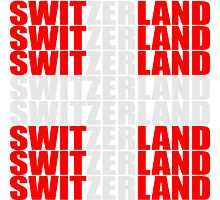Cool Switzerland Text Cross by Style-O-Mat