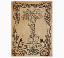 Mermaid Tarot Sticker: The Lovers by SophieJewel