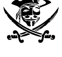 Anonymous Guy Fawkes Pirate by kwg2200