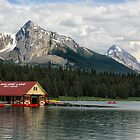Maligne Lake Boathouse by Charles Kosina