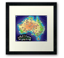 Iconic Australia Framed Print