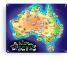 Iconic Australia Canvas Print