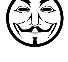 Anonymous Guy Fawkes Circle by kwg2200