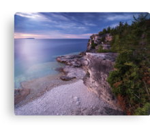 Georgian Bay Cliffs at Sunset art photo print Canvas Print