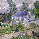 Vincent van Gogh - Houses at Auvers by TilenHrovatic