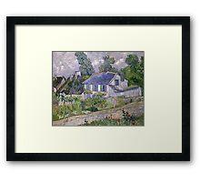 Vincent van Gogh - Houses at Auvers Framed Print