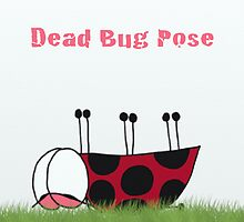Dead Bug Yoga Pose by OneArtsyMomma