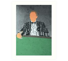 Daniel Craig in James Bond Casino Royale Typography Design Art Print