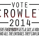 Supernatural - Vote Crowley (Red) by ffiorentini