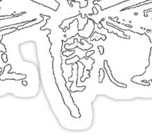 Cicada 3301 everywhere white Sticker