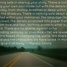 Nothing Safe about Sharing Your Story by Mardra