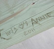 Love Carved Under The Pier by Michelle Burley