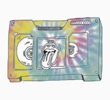 rolling stones cassette tape by pastelxprints