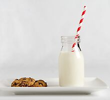 Milk and cookies white by Jodie Johnson